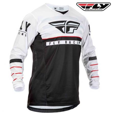 Dres FLY RACING Kinetic K120 2020 (černá/bílá)