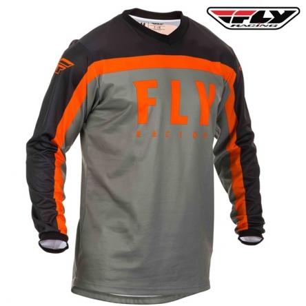 Dres FLY RACING F-16 2020 (šedá/oranžová)