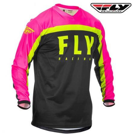 Dres FLY RACING F-16 2020 (růžová/černá)