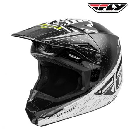 Helma FLY RACING Kinetic K120 (černá/bílá)