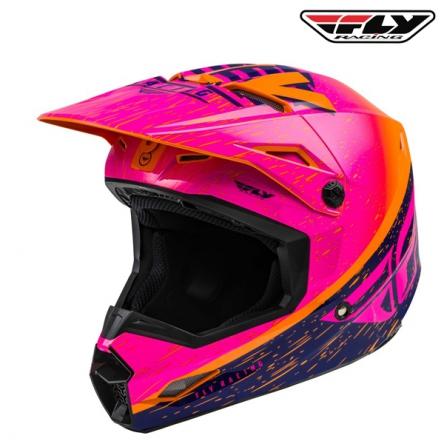 Helma FLY RACING Kinetic K120 (oranžová/růžová)