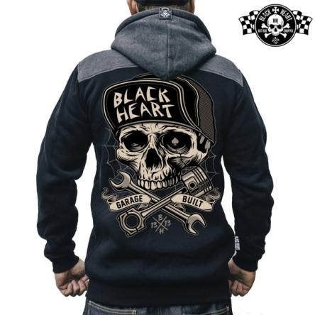 Mikina s kapucí pánská BLACK HEART Garage Built Zipper