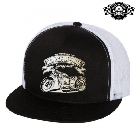 Kšiltovka BLACK HEART Garage Built WHT