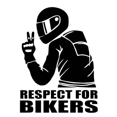 Nálepka Respect for Bikers