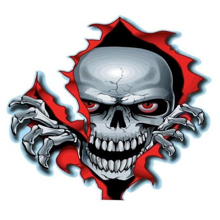 Nálepka Boo Skull