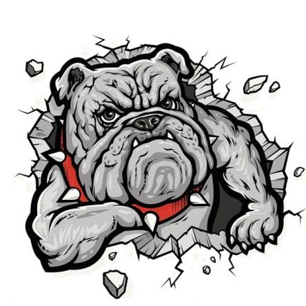 Nálepka Stone Bulldog