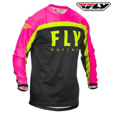 dětský dres FLY RACING F-16 2020 (růžová/černá)