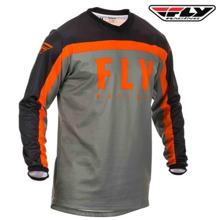dětský dres FLY RACING F-16 2020 (šedá/oranžová)