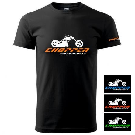 Moto Tričko CHOPPER MOTORCYCLE pánské