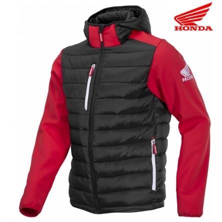 Bunda pánská HONDA RACING Hybreed Softshell 19 black/red