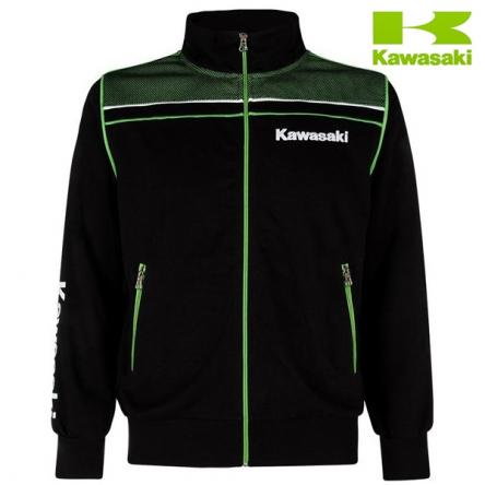 Mikina pánská KAWASAKI SPORTS Zipper black/green