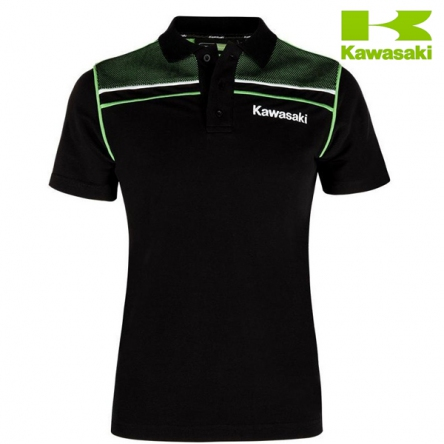 Polokošile dámská KAWASAKI SPORTS Short Sleeves black/green