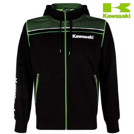 Mikina pánská KAWASAKI SPORTS Zipper Hooded black/green