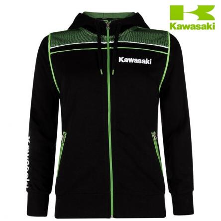 Mikina dámská KAWASAKI SPORTS Zipper Hooded black/green