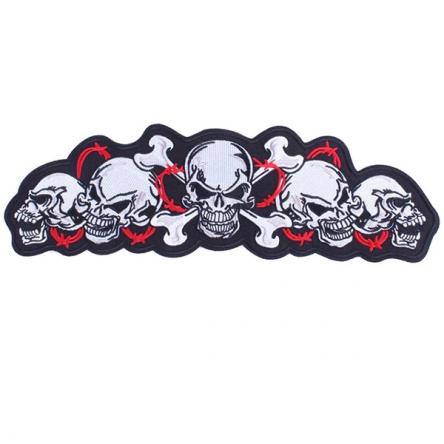 Nášivka String of Skulls Red velká
