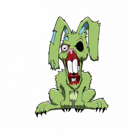 Nálepka Zombie Rabbit