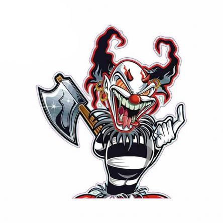 Nálepka Axe Clown