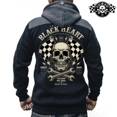 Mikina s kapucí pánská BLACK HEART Starter Zipper