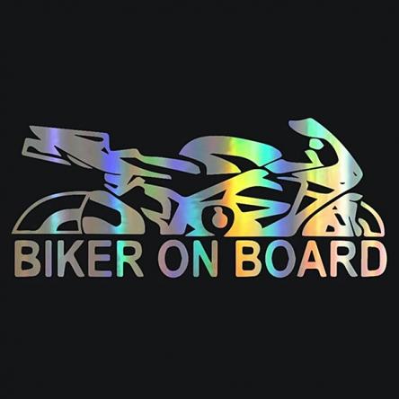 Nálepka Biker on Board