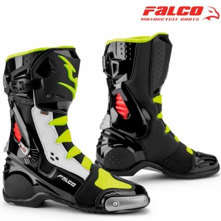 Boty FALCO 311 ESO RACE BLACK/WHITE/FLUO