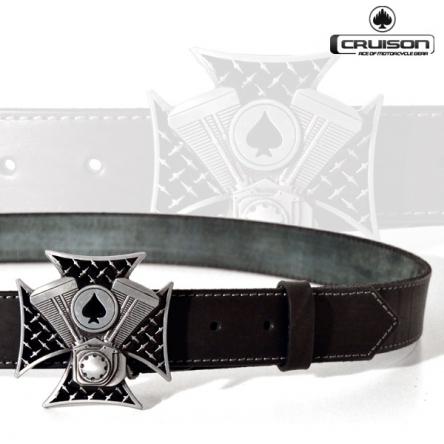 Kožený opasek CRUISON Spade Cross