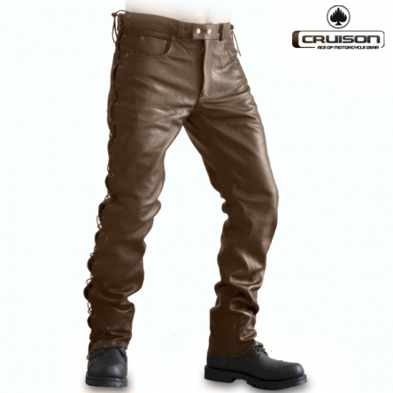 Kalhoty CRUISON LACE JEANS NAPPA BROWN