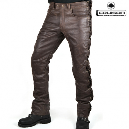 Kalhoty CRUISON LACE JEANS BROWN