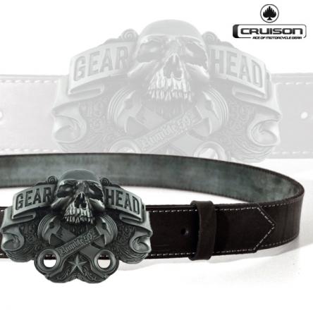 Kožený opasek CRUISON Gear Head