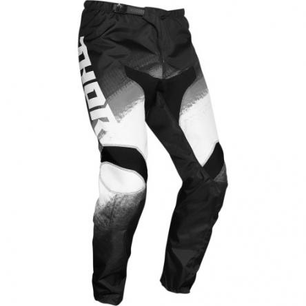 Kalhoty THOR SECTOR VAPOR BLACK/WHITE