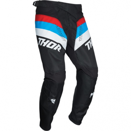 Kalhoty THOR PULSE RACER BLACK/RED/BLUE