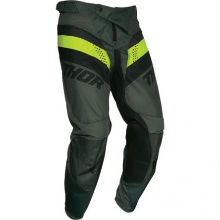 Kalhoty THOR PULSE RACER ARMY GREEN/ACID