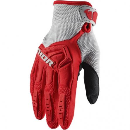 MX rukavice dětské - THOR SPECTRUM S9Y RED/GRAY