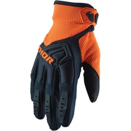 MX rukavice dětské - THOR SPECTRUM S9Y MIDNIGHT/ORANGE