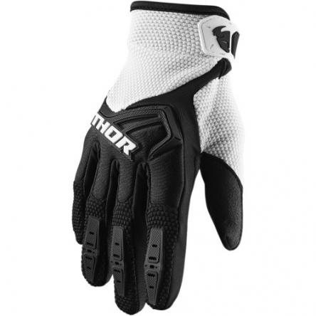 MX rukavice dětské - THOR SPECTRUM S9Y BLACK/WHITE