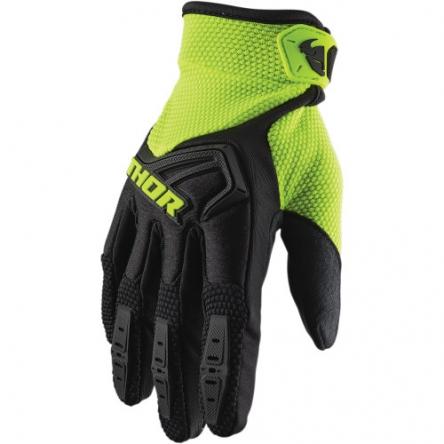 MX rukavice dětské - THOR SPECTRUM S9Y BLACK/FLO ACID