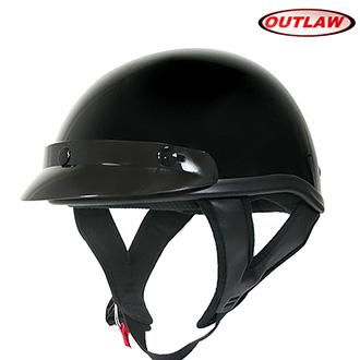 Helma OUTLAW T-70 - černá lesklá