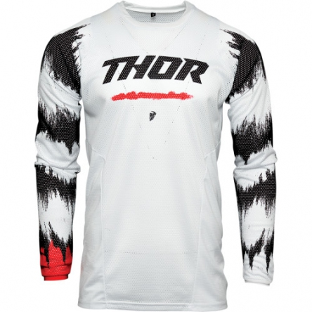 dětský dres THOR YOUTH PULSE AIR RAD WHITE/RED