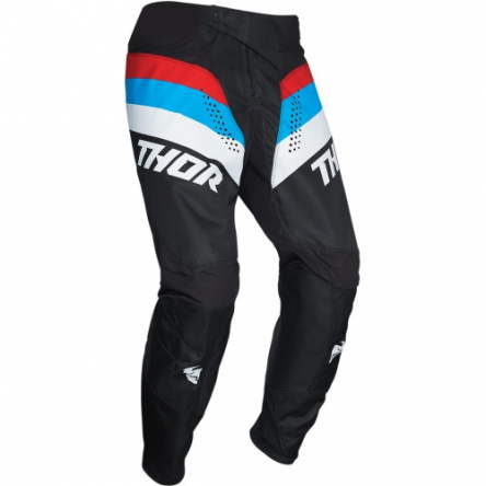 dětské kalhoty THOR YOUTH PULSE RACER BLACK/RED/BLUE