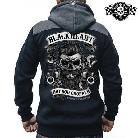 Mikina s kapucí pánská BLACK HEART Respect Traditional Zipper