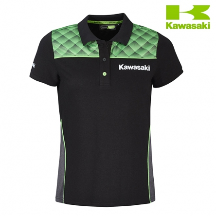 Polokošile dámská KAWASAKI SPORTS II Short Sleeves black/green
