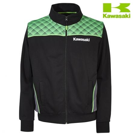 Mikina pánská KAWASAKI SPORTS II Zipper black/green