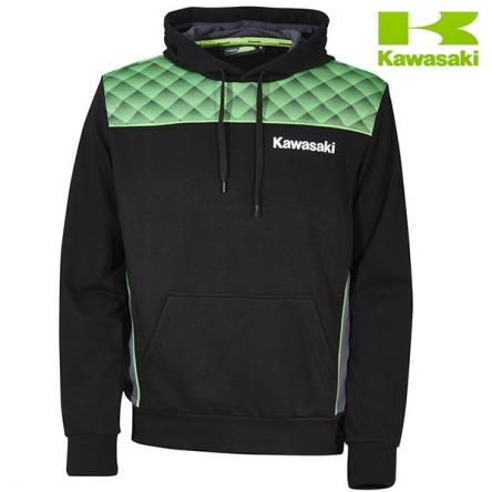 Mikina pánská KAWASAKI SPORTS II Hoody black/green