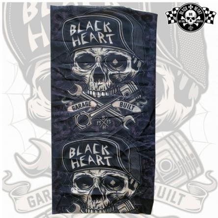 Šátek BLACK HEART Garage Built