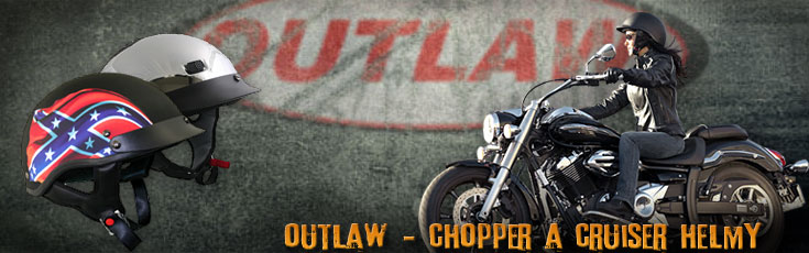 Outlaw - chopper a cruiser helmy - DarkBiker.cz